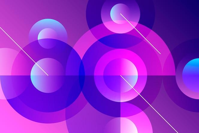 Fondo de pantalla de formas superpuestas
