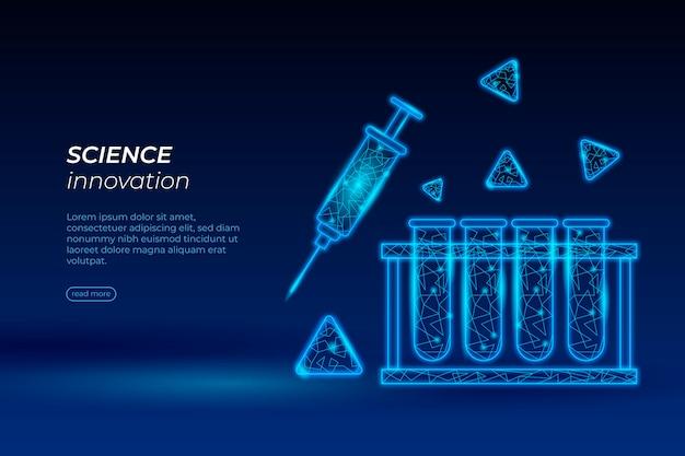 Fondo de pantalla futurista del laboratorio de ciencias