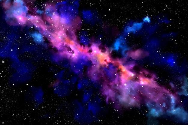 Fondo de pantalla de galaxia de acuarela pintado a mano