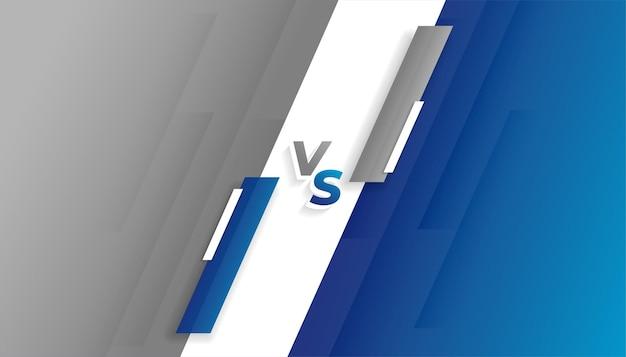Fondo de pantalla gris y azul versus vs
