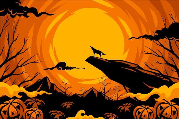 Fondo de pantalla de halloween dibujado a mano