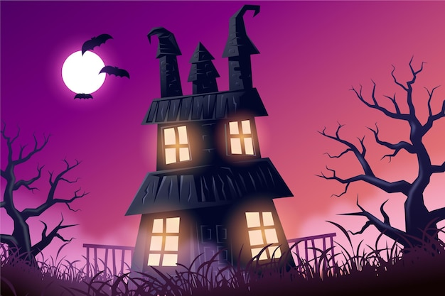 Fondo de pantalla de halloween realista espeluznante