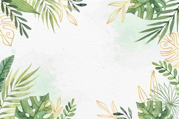 Fondo de pantalla de hojas con concepto de lámina metálica