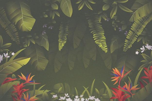 Fondo de pantalla de hojas tropicales para zoom