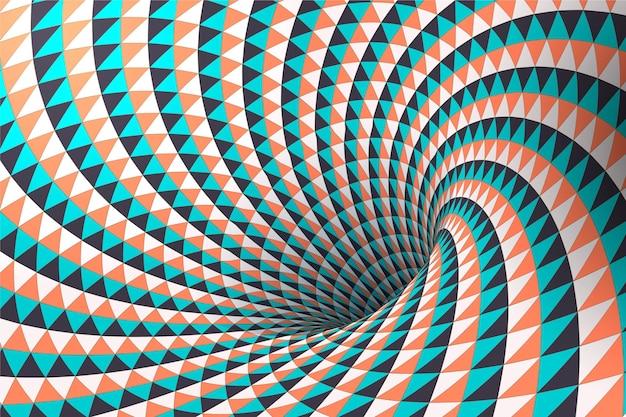 Fondo de pantalla de ilusión óptica realista
