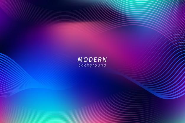 Fondo de pantalla de líneas de neón abstracto