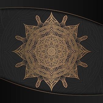 Fondo de pantalla de mandala de lujo