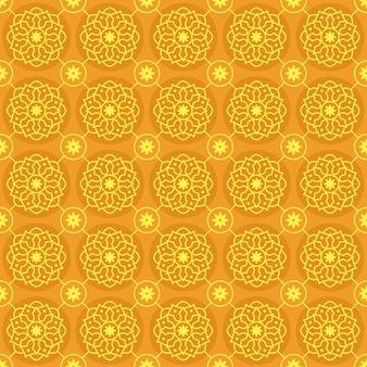 Fondo de pantalla de mandala de patrones sin fisuras. elegante motivo tradicional. geometría de lujo. batik clásico