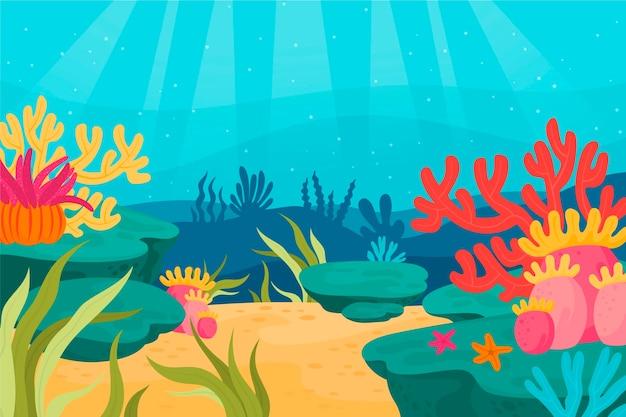 Fondo de pantalla bajo el mar para videoconferencia