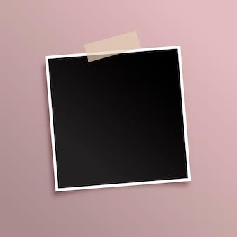 Fondo de pantalla con marco de fotos negro