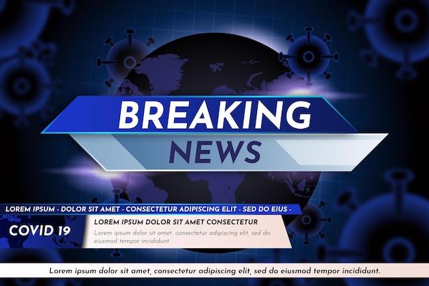 Fondo de pantalla de noticias de última hora sobre coronavirus