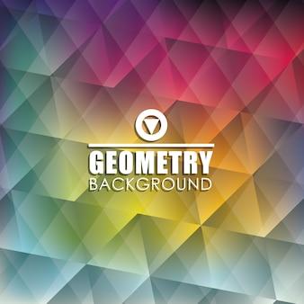 Fondo de pantalla o fondo de geometría, ilustración vectorial eps10