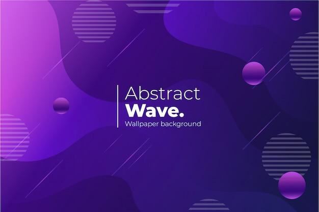 Fondo de pantalla de onda abstracta