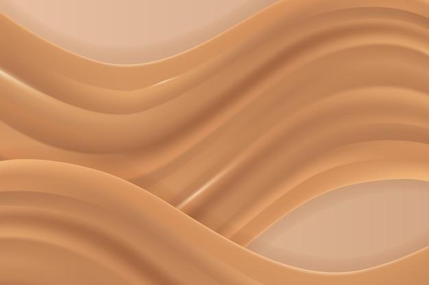Fondo de pantalla de onda dorada suave