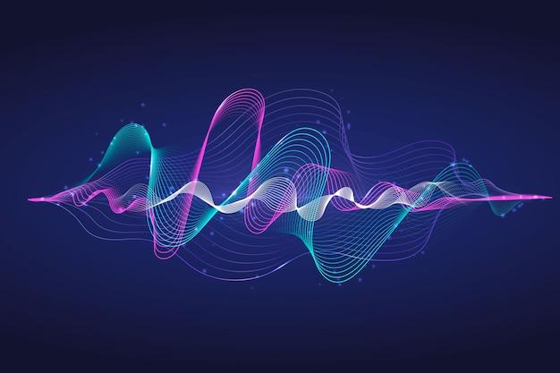 Fondo de pantalla de onda ecualizador colorido