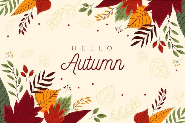 Fondo de pantalla de otoño dibujado a mano