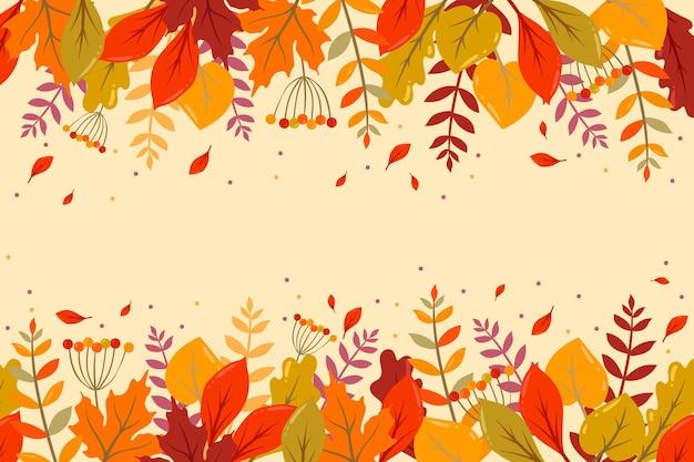 Fondo de pantalla de otoño con espacio vacío
