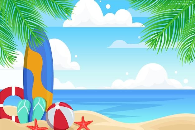 Fondo de pantalla de paisaje de verano para el tema zoom