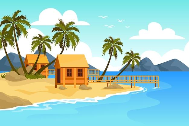 Fondo de pantalla de paisaje de verano para zoom cocnept