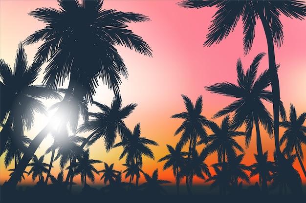 Fondo de pantalla de paisaje de verano para zoom
