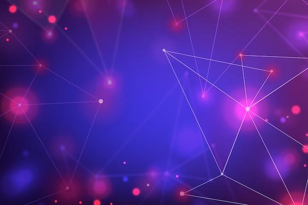 Fondo de pantalla de partículas de tecnología realista abstracta