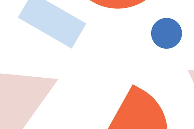 Fondo de pantalla de patrón geométrico colorido abstracto de memphis