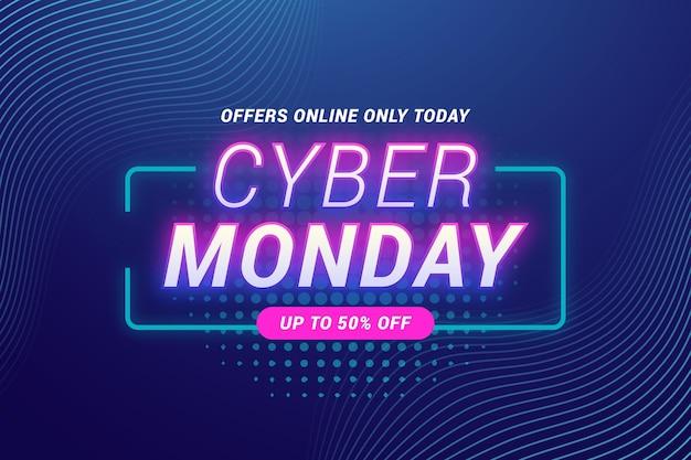 Fondo de pantalla plano de cyber monday