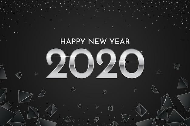Fondo de pantalla de plata año nuevo 2020