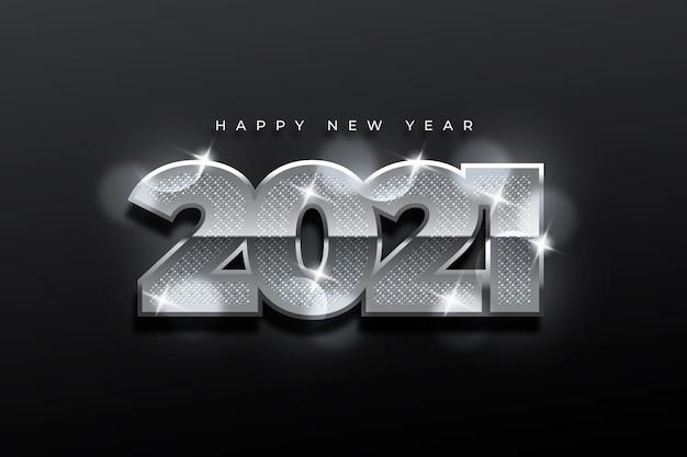 Fondo de pantalla de plata año nuevo