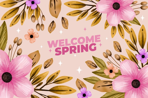 Fondo de pantalla de primavera acuarela