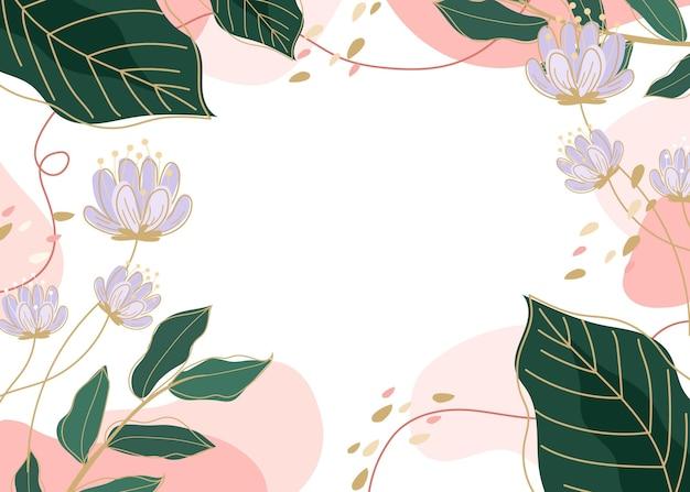 Fondo de pantalla de primavera dibujado creativo