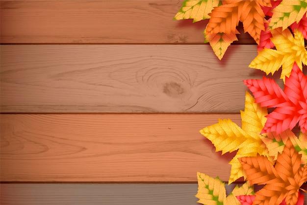 Fondo de pantalla realista de otoño