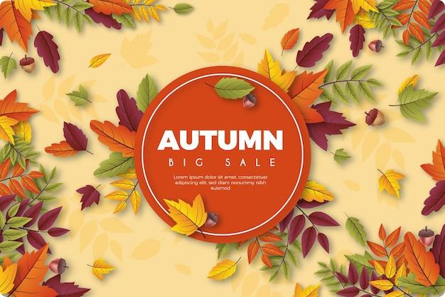 Fondo de pantalla realista de rebajas de otoño