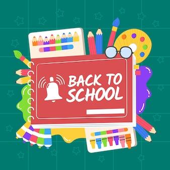 Fondo de pantalla de regreso a la escuela dibujado a mano