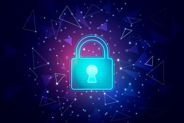 Fondo de pantalla de seguridad cibernética futurista