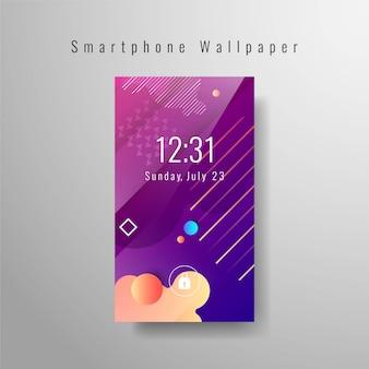 Fondo de pantalla de smartphone abstracto elegante diseño vectorial