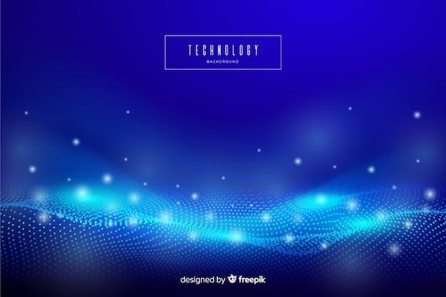 Fondo de pantalla de tecnología abstracta azul