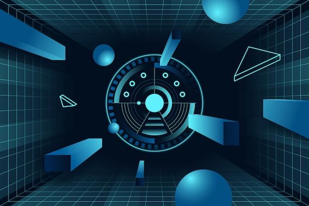 Fondo de pantalla de tecnología futurista