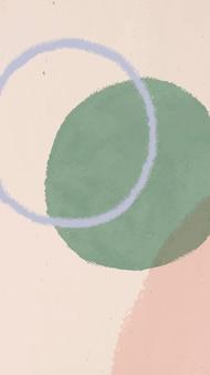 Fondo de pantalla de teléfono móvil de acuarela abstracta verde y rosa