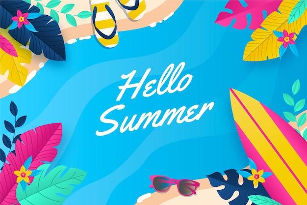 Fondo de pantalla de verano colorido