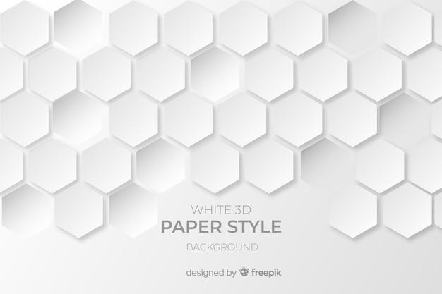 Fondo de papel blanco en 3d
