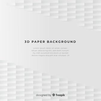 Fondo de papel con formas en 3d