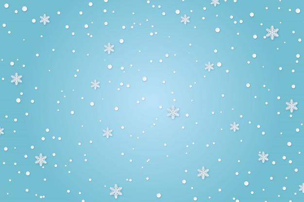 Fondo de papel de invierno