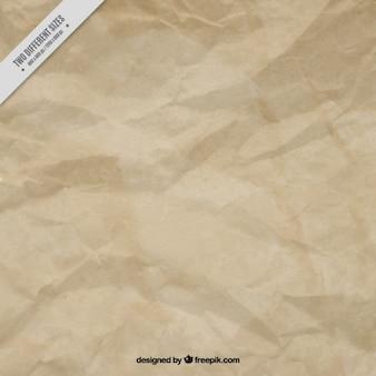 Fondo de papel marrón arrugado