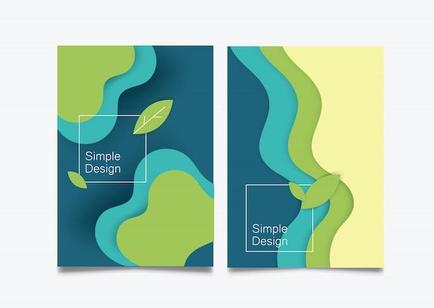 Fondo de papel plano ilustración papel cortado