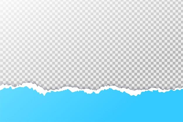 El fondo del papel se rasga hasta que vea los bordes.