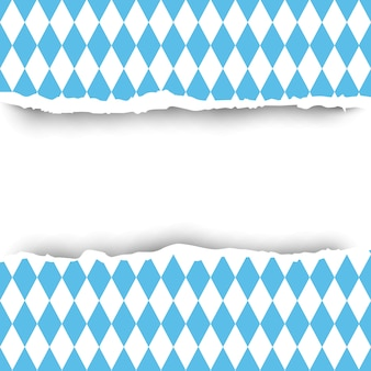 Fondo de papel rasgado de bandera de baviera