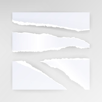 Fondo de papel rasgado en blanco
