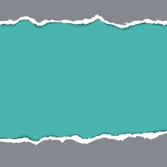 Fondo de papel rasgado. diseño grunge vacío, patrón rasgado, ilustración vectorial