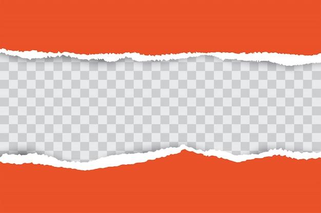 Fondo de papel rasgado naranja con lugar para el texto.